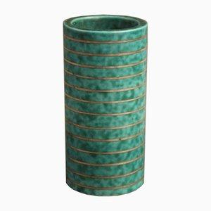 Vintage Turquoise Argenta Vase by Wilhelm Kåge for Gustavsberg
