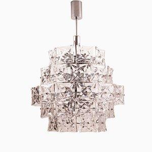 Lámpara de araña Mid-Century grande con cinco hileras de Kinkeldey