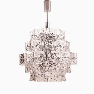 Large Mid-Century Five-Tiered Chandelier from Kinkeldey