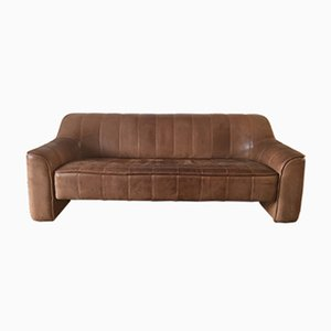 Vintage Cognac DS44 3-Seater Sofa from de Sede