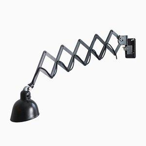 Lámpara Scissor en negro de Siemens, años 30