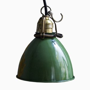 Vintage Green Enamel Pendant