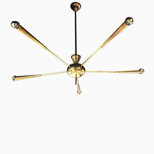 Italian Brass Sputnik Lamp, 1950s