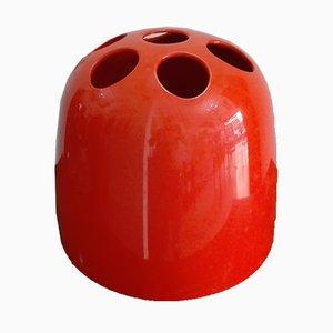 Portaombrelli Dedalo rosso di Emma Gismondi Schweinberger per Artemide, anni '70