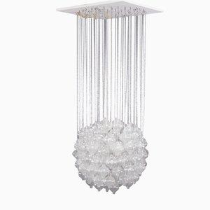 Lámpara de araña colgante Tulipan vintage de vidrio de J.T. Kalmar