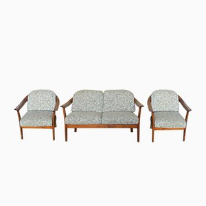 Vintage Sofa and 2 Armchairs from Knoll