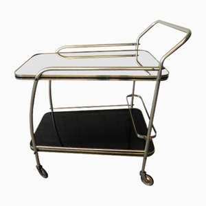 Vintage Trolley with 2 Glass Tops, 1950s