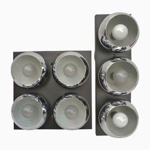 Modell 14109 Wandlampen von Angelo Lelii für Arredoluce, 1960er, 2er Set