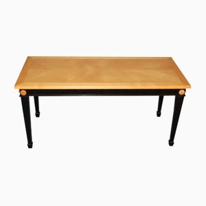 Coffee Table in Sycamore and Black Wood, 1940s
