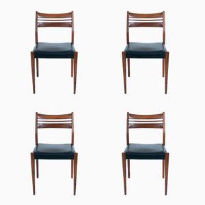 Chaises de Salon Mid-Century par Arne Vodder, Danemark, Set de 4