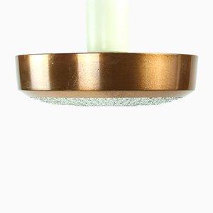 Deckenlampe aus Kupfer & Glas, 1970er
