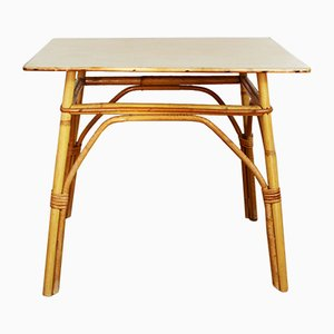 Tavolino vintage in vimini