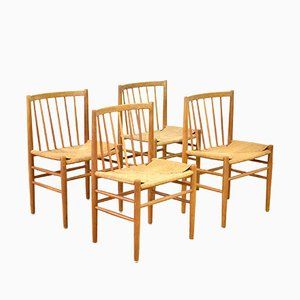 Dining Chairs by Jørgen Baekmark for FDB Møbler, 1950s, Set of 4