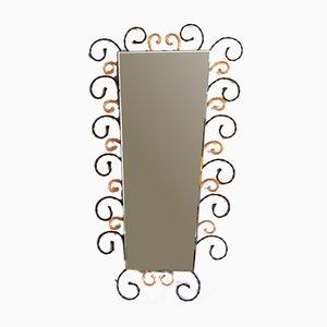 Spiegel aus Schmiedeeisen, 1960er