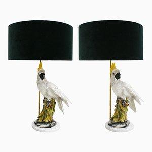 Lampade da tavolo Capodimonte, anni '50, set di 2