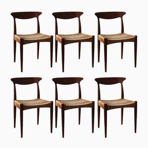 Scandinavian Dining Chairs by Arne Hovmand Olsen for Mogens Kold, 1960s, Set of 6