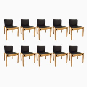 Model 77 Stacking Chairs by Gerd Lange for Schlapp Möbel, 1970s, Set of 10