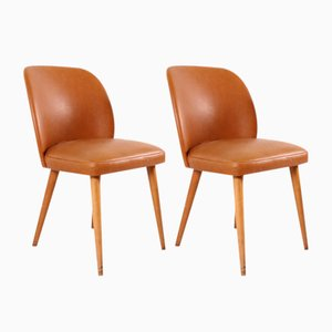 German Cognac Cocktail Chairs, 1950s, Set of 2