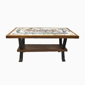 Table Basse en Céramique par Gustave Reynaud pour Le Murier, 1950s