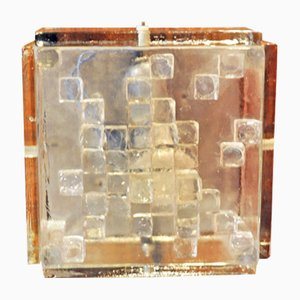 Applique in vetro di Poliarte, anni '70