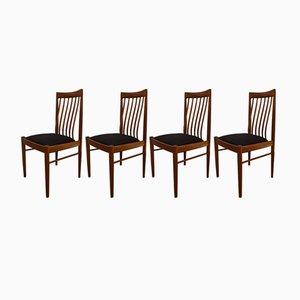 Chaises de Salon en Teck par H.W. Klein pour Bramin, 1960s, Set de 4