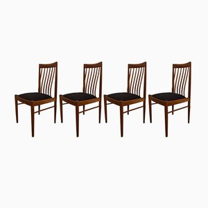 Teak Esszimmerstühle von H.W. Klein für Bramin, 1960er, 4er Set