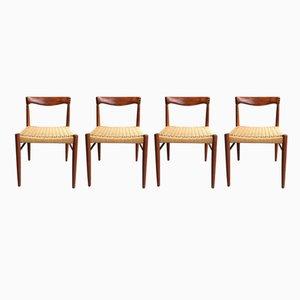 Chaises de Salon Mid-Century en Teck par H. W. Klein pour Bramin, 1960s, Set de 4