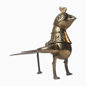 Vintage Brass Chicken Incense Burner, 1960s