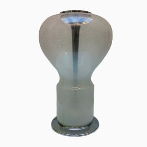 Große Italienische Space Age Murano Glas Tischlampe, 1960er
