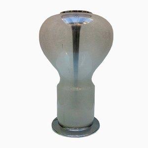 Lámpara de mesa italiana era espacial grande de cristal de Murano, años 60