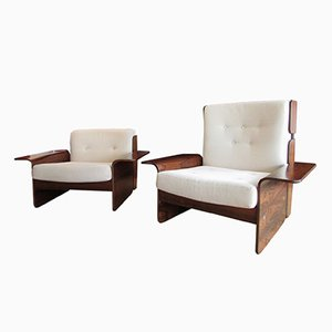 Vintage Rosewood Easy Chairs from CFC Silkeborg, Set of 2