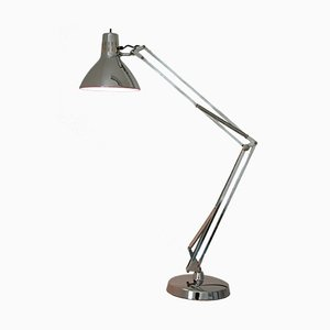 Large Luxo L-1 Chrome Spring-Arm Lamp by Jacob Jacobsen for Naska Loris, 1960s
