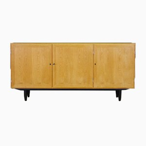 Vintage Ash Veneer Sideboard by Carlo Jensen for Hundevad & Co.
