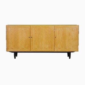 Vintage Ash Veneer Sideboard by Carlo Jensen for Hundevad & Co.