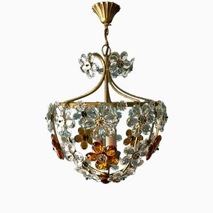 Floral Italian Ceiling Light by Christoph Palme, 1960s