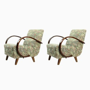Floral Armchairs by Jindřich Halabala, 1950s, Set of 2
