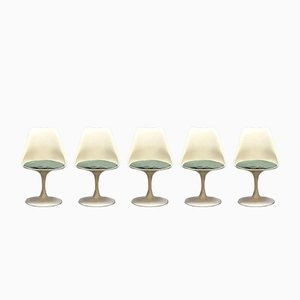Mid-Century Modern Tulip Dinner Chairs by Eero Saarinen for Knoll, Set of 5