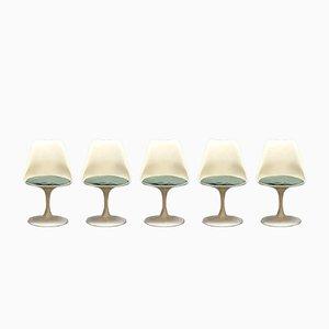 Sedie da pranzo Tulip Mid-Century moderne di Eero Saarinen per Knoll, set di 5