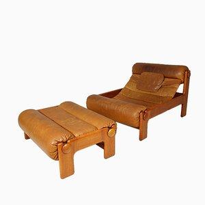 Vintage Swedish Lounge Chair & Ottoman, 1960s