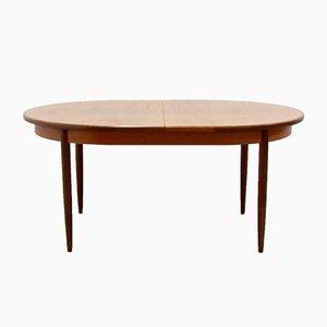 Mesa de comedor extensible vintage de teca de G-Plan, años 60