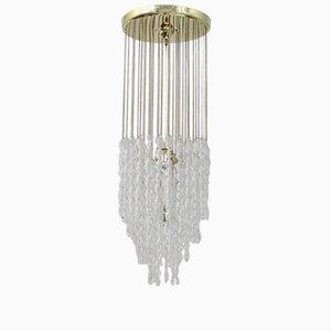 Lámpara de techo italiana de cristal de Murano, años 70