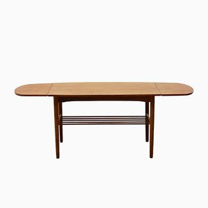 Mesa de centro extensible danesa vintage, años 60