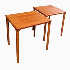 Swedish Teak Side Tables, 1960s, Set of 2