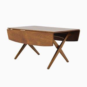 Tavolino da caffè allungabile in teak, anni '60