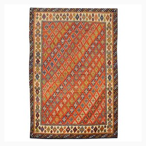 Middle Eastern Woolen Rug with Diagonal Diamonds, 1900s
