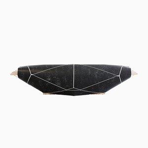 Black Bound Bench by Maarten Kolk & Guus Kusters