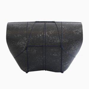 Taburete Bound Stool negro de Maarten Kolk & Guus Kusters