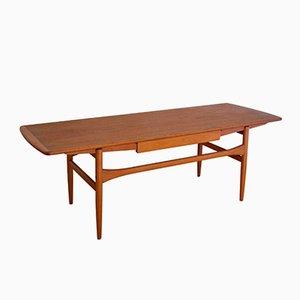 Table Basse avec Tiroir par Andreas Hansen pour Arrebo Mobler, Danemark, 1960s