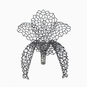 Wrought Iron Flower Chair by Anacleto Spazzapan, 2005