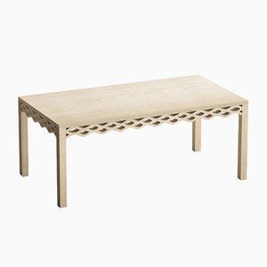 Mesa con tablón de fresno de Mario Alessiani para Dialetto Design